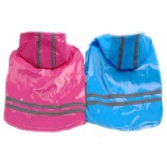 Efecto reflectante seguro de cuero de la PU Impermeable Pet Rain Coat