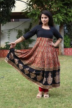 cotton kalamkari anarkali