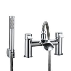 Cooke & Lewis Bamboo Chrome Bath Shower Mixer Tap | Departments | DIY at B&Q