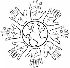 Free printable coloring pages for print and color, Coloring Page to Print , Free Printable Coloring Book Pages for Kid, Printable Coloring worksheet School Coloring Pages, Coloring Pages To Print, Free Printable Coloring Pages, Coloring Book Pages, Coloring Sheets, Multicultural Crafts, Harmony Day, International Day Of Peace, World Days