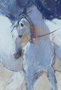 Cobra Mare by Sally Martin Pastel ~ 12inch x 7.75