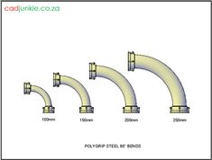 Bends: PolyGrip Steel Bends – to ø) Autocad, Cad Blocks, Steel, 3d, Steel Grades, Iron