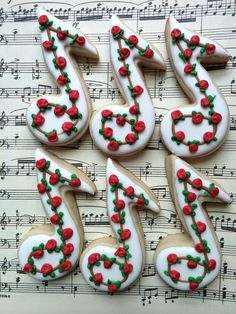 music note cookies for a piano recital | Cookie Connection