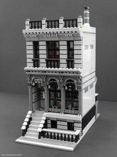 lego - My modular london Townhouse [OC] Lego Duplo, Lego Moc, Lego Technic, Lego London, Lego Modular, Legos, Casa Lego, Modele Lego, Batman Lego
