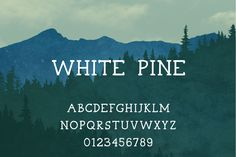 introducing White Pine, a free font | Anna London