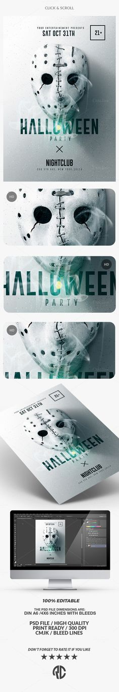 Halloween Zombie Party  Psd Flyer Template  Zombie Party