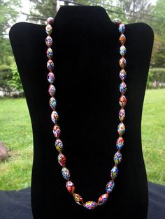 Gorgeous 1960's Millefiori Necklace by ByChanceVintage on Etsy, $45.00