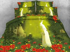 3d print comforter bedding sets twin full queen super cal king size bed covers bedspread poppy