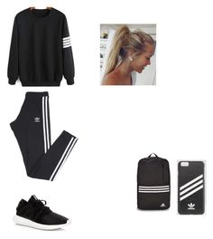 """Untitled #125"" by aj-mounger ❤ liked on Polyvore featuring WithChic and adidas"