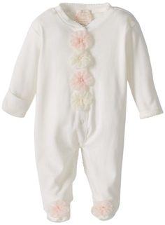#Biscotti Baby-Girls Newborn Pom Pom Petals Longsleeve Footie - Buy New: $37.52