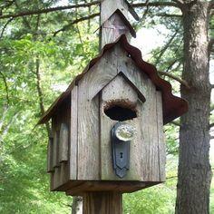 Bird House Kits Make Great Bird Houses Bird House Plans, Bird House Kits, Decorative Bird Houses, Bird Houses Diy, Bird House Feeder, Bird Feeders, Birdhouse Designs, Birdhouse Ideas, Diy Bird Bath