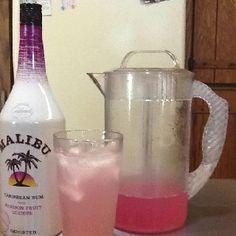 Pink lemon aid and Malibu Passion Fruit Rum