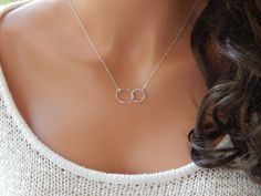 Double Eternity Necklace Girlfriend Gift by SimpleAndLayered