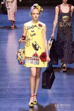 Dolce & Gabbana Ready To Wear Spring Summer 2016 Milan Girls Formal Dresses, Cute Dresses, Summer Dresses, Summer Fashions, Spring Summer 2016, Spring Summer Fashion, 2016 Fashion Trends, Milan Fashion, Embroidery Dress