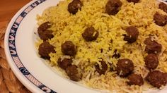 Meatballs with basmati rice