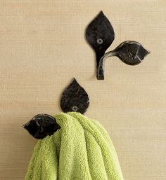 Lotus Leaf Bath Towel Hooks - Gaiam
