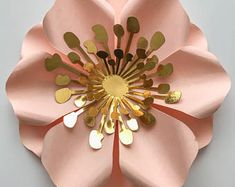 """PDF 2 5.25"""" Filler Flowers - Trace and Cut File for DIY Giant Paper Flower-Ideal ti fill in small Gaps in your Paper Flower Arrangement"""