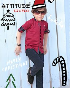 Merry Christmas to everyone from #TeamAttitude   #Kids #Garments #Boys #Clothing #Style #India  #Merry #Christmas Kids Party Wear, Kids Wear, Clothing Labels, Kids Clothing, Mens Designer Shirts, Cotton Shirts For Men, Boys Style, Boys Shirts, Dress Shirt