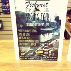 The Fishwest Spring Fair is coming May 3! We'd love to have you join us. Click for more info: https://www.facebook.com/events/1389906231287946/