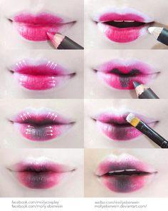 Cosplay / Dolly Lips Makeup Tutorial by mollyeberwein on DeviantArt