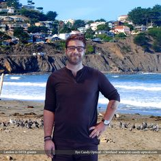 Landon walks the California Bay in his new Dita glasses.  Eye Candy getting sandy on the beach!  Be who you want to be at Eye Candy Optical! www.eye-candy-optical.com