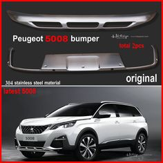for Peugeot 5008 2017+ Original model bumper cover rear trunk skid plate,best 304 stainless steel material,free shipping Asia #Affiliate