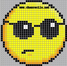 ~~Motifs pour le Point de Croix : Les Smileys~~ Cross Stitch Baby, Cross Stitch Charts, Modern Cross Stitch Patterns, Cross Stitch Designs, Emoji Blanket, Smileys, Baby Boy Knitting Patterns, Minecraft Pixel Art, Crochet Cross