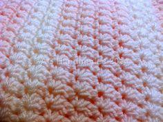 Easy Star Stitch Crochet Afghan free pattern