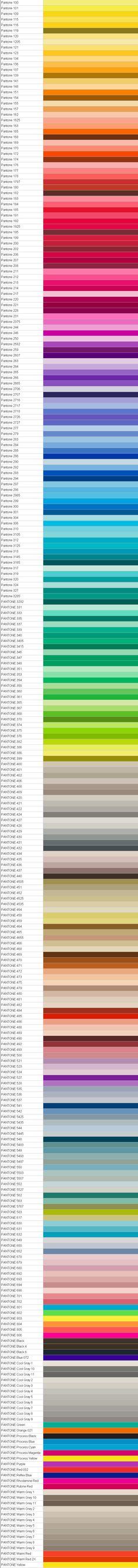 Just the Pantone palette.