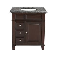 Westport Bay Martinsburg Mahogany In Espresso 1059S (Common: 31-in x 22-in) Undermount Single Sink Bathroom Vanity with Granite Top $949