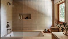 The Better Way To Clean (And Brighten) Your Grout - Bobby Berk Interior Simple, Interior Design, Home Interior, Midcentury Tile, Topanga California, 1940s Bungalow, Handmade Wood Furniture, Topanga Canyon, Modern Bathtub