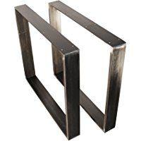 Estructura para tableros de mesa en Retro Vintage Diseño pie de mesa, diseño industrial, metal acero comedor mesa estructura pata de mesa Salón Mesa