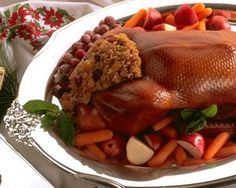 XMAS dinner idea: Duck with Brown and Wild Rice Stuffing and Herb Sauce