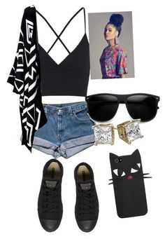 """""""Untitled #20"""" by kayla-daniels on Polyvore featuring Topshop and Converse"""