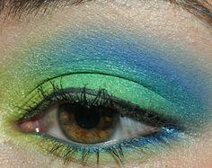 Tutorial - Tropical Paradise (Green, Teal, & Blue Eyes)