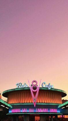 18 Ideas For Cars Movie Radiator Springs Pink Wallpaper Iphone, Animal Wallpaper, Colorful Wallpaper, Disney Wallpaper, Wallpaper Backgrounds, Retro Disney, Disney Pixar, Disneyland Photography, Radiator Springs