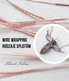 Pomysły na ręcznie robioną biżuterię. Tutoriale i porady. Rodzaje splotów w technice wire wrapping Wire Wrapping, Washer Necklace, Arrow Necklace, Wraps, Stone, Blog, Jewelry, Rock, Jewlery