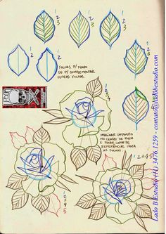 Great 2015 to all and that with many studies, we can always be one step ahead. Traditional Tattoo Tutorial, Traditional Tattoo Flash, Traditional Rose Tattoos, Rosa Old School, Old School Rose, Skull Rose Tattoos, Tattoos Mandala, Tutorial Rosa, Rose Tutorial