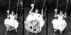 Fun on a swing. Plum, Weddings, Pearls, Photography, Fotografie, Bodas, Photograph, Hochzeit, Wedding