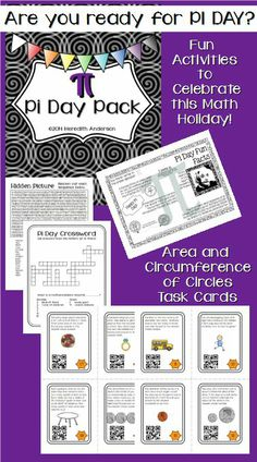Pi Day Pack! I have created a Pi Day pack for upper grades. Explore pi on March 14th!