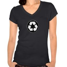 Recycled BW - Ladies Eco Chic Fitted V-neck Tee T Shirt, Hoodie Sweatshirt