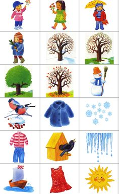 k ročným obdobiam Seasons Activities, Spring Activities, Learning Activities, Kids Learning, Activities For Kids, Winter Crafts For Kids, Winter Kids, Preschool Weather, Flashcards For Kids