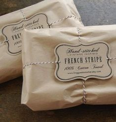 Packaging Design with brown paper and vintage style labels Vintage Packaging, Paper Packaging, Pretty Packaging, Brand Packaging, Gift Packaging, Packaging Design, Packaging Ideas, Simple Packaging, Product Packaging