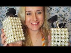 Como fazer um PORTA PINCEIS LINDOOO - YouTube Pearl Crafts, Beaded Crafts, Clay Jewelry, Jewelry Crafts, Handmade Crafts, Diy And Crafts, Shabby Chic Crafts, Recycled Bottles, Cool Diy Projects
