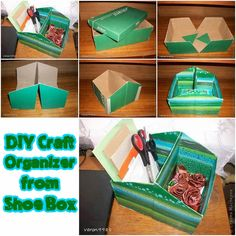 Astute Homestead: DIY Craft Organizer from Shoe Box