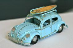 1950s Blue Volkswagen VW Beetle