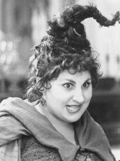 Hocus Pocus Mary Sanderson; I've been told I look like her--or should I say LOOKED like her!  Love this movie!