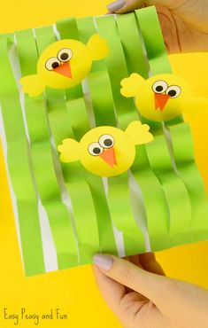 Cute Spring Chick Paper Craft