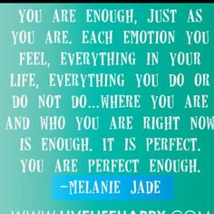 No You're Not. You're never enough. I fucking hate affirmations, they all sound like resignation, like becoming okay with the world. The world is a piece of shit. Get better. Fuck Melanie Jade. Fuck her. You still suck, wait, did you win a Nobel Prize this week? No, then fuck you. Go get better. The reason you're not winning Nobel Prizes is because you tell yourself this shit. It makes you soft and unlikable. Now, knock it off.