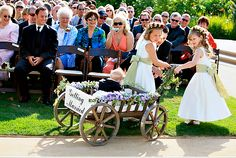 ring bearer in wagon